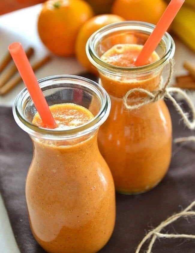 smoothie de zanahoria con canela