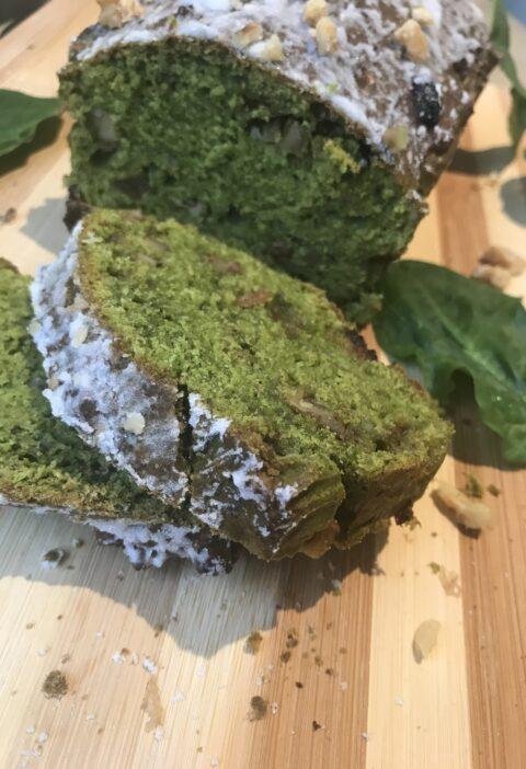 receta de bizcocho con espinacas, dulces saludables y faciles