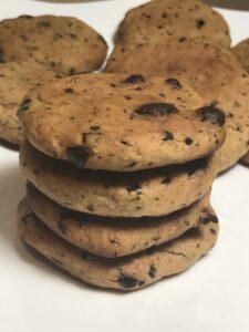 receta de galletas de garbanzos, veganas, sin gluten