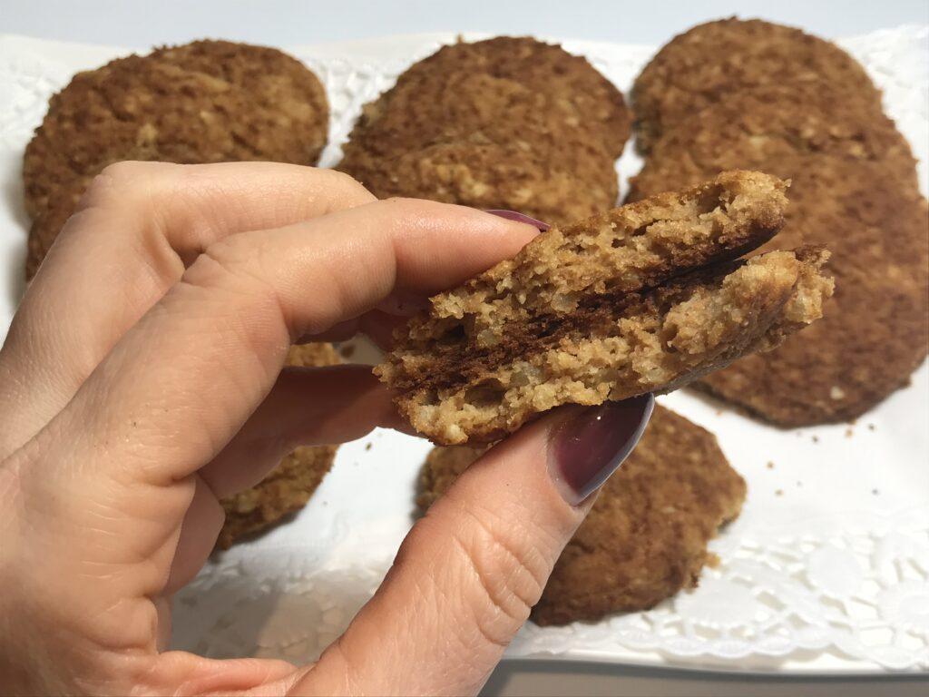 galletas de alubias blancas y almendras, sin gluten, aptas para veganos