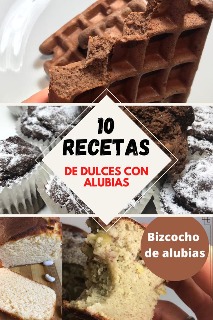 10 recetas dulces con alubias rojas, blancas, negras. brownie de alubias con plátano, fit, dulces con legumbres