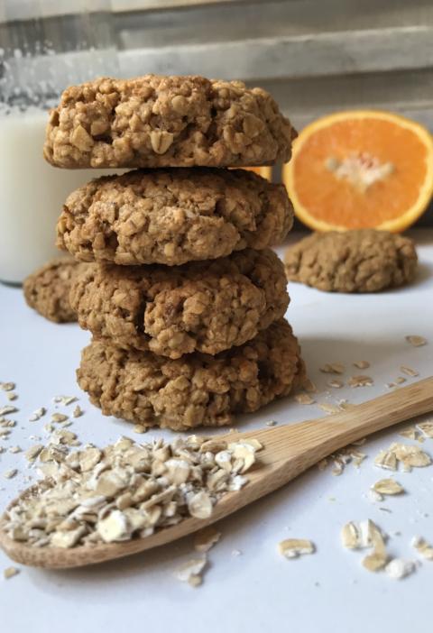 galletas de avena saludables, naranja, fit, sin azúcar, sin harina, caseras, crujientes, gullón
